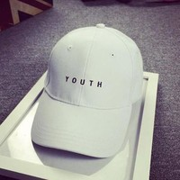 YOUTH Embroidered Sports Sun Hat Hip Hop Baseball Cap Hat