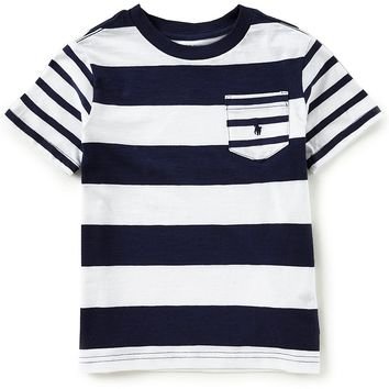 Ralph Lauren Childrenswear Little Boys 2T-7 Short-Sleeve Striped Jersey T-Shirt | Dillards