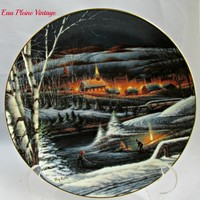 Terry Redlin Wintertime Collectors Plate Heartland Collection 1995
