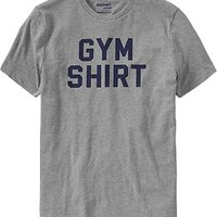 "Men's ""Gym Shirt"" Graphic Tees"