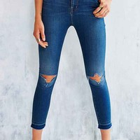 BDG Twig Grazer Released-Hem High-Rise Jean - Vintage Blue - Vintage Denim Light