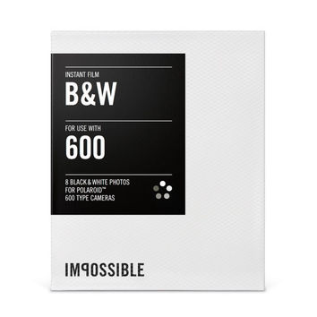 Impossible Project Black White B&W Film for Polaroid 600 Type Cameras and Impossible Instant Lab