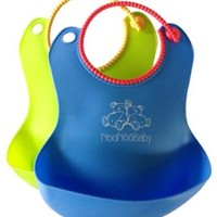 **BARGIN DEAL TODAY! - BUY AT THIS PRICE WHILE SUPPLY LAST** Waterproof Baby Bibs With Snaps Adjustable For Your Growing Toddler, Boy Or Girl | 2 Pack Set For Feeding | Perfect Fit For a Gift or Baby Shower - This Bib Will Not Scratch Your Baby Delicate Sk