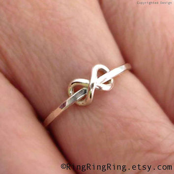 Adjustable Tiny infinity ring,  Delicate 925 sterling silver ring jewelry, Promise ring, Daughter, Friendship, Girlfriend, Sisters