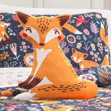 Such A Fox 4PC Quilt Blue Bedding SET