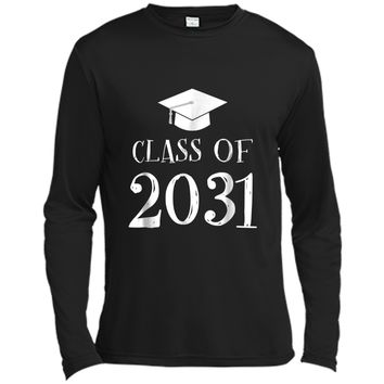 Class of 2031 Grow with me  - First Day of School  Long Sleeve Moisture Absorbing Shirt