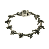 Nickel Ox Shark Tooth Tennis Bracelet