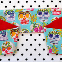 Red and Blue Calaveras Sugar Skulls Headband - Day of the Dead  $5.00 : Sabbie's Purses and More