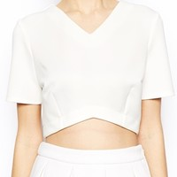 ASOS Top with Curved Hem in Scuba
