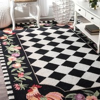 nuLOOM Angla Rooster Kitchen Area Rug