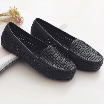 Women Garden Shoes Mules Clogs Summer Sandals Woman Casual Sandals Slip Shock Absorbing Slippers Home Slip-on