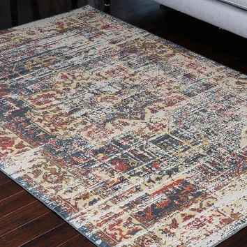 8702 Gray Rustic Oriental Area Rugs