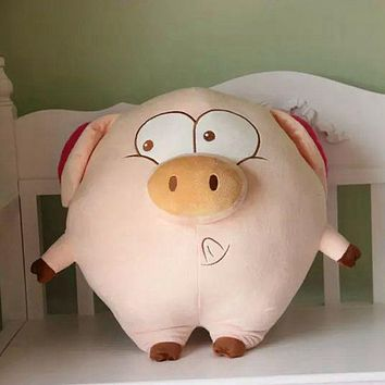 2017 New Lovely Plush Stuffed Pink Flying Pig With Wings Kids Toy Plush Pig Dolls Christmas Birthday Children Friends Gift