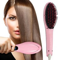 Hair Straightener, Oak Leaf Pro Detangling Hair Brush Electric Comb Hair Straightening Irons