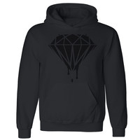Zexpa Apparel™ Black Diamond Dripping Melting Bleeding Unisex Hoodie Dope Hooded Sweatshirt