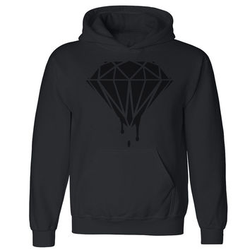 Black Diamond Dripping Melting Bleeding Unisex Hoodie Dope Hooded Sweatshirt