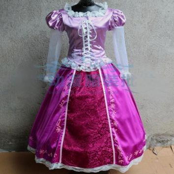 Adult Rapunzel Costume Women Rapunzel Tangled Dress Princess Halloween Tangled Rapunzel Cosplay Costume
