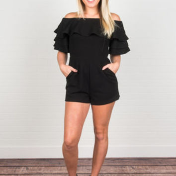 The Breakout Romper, Black
