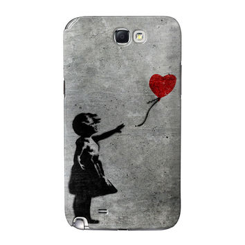 Banksy Girl with Heart Balloon Full Wrap High Quality 3D Printed Case for Samsung Galaxy Note 2