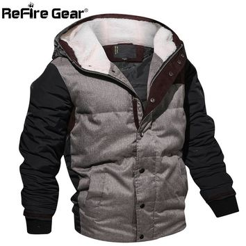 Trendy ReFire Gear Military Style Winter Jacket Men Warm Cotton Parka Coat Casual Autumn Thermal Fleece Knitting Hoodie Jacket EUR Size AT_94_13