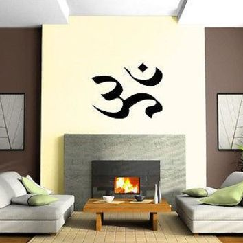 Yoga Symbol Om India Spiritual Sanskrit Decor Wall Mural Vinyl Art Sticker Unique Gift M530