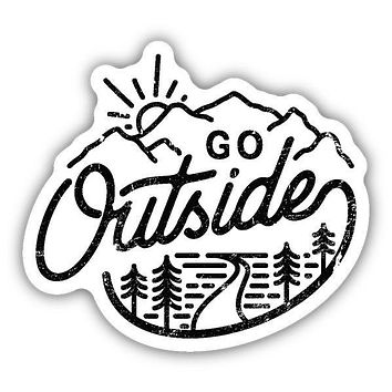 Go Outside Sticker