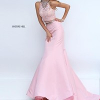Sherri Hill Two Piece Lace Dress 32348