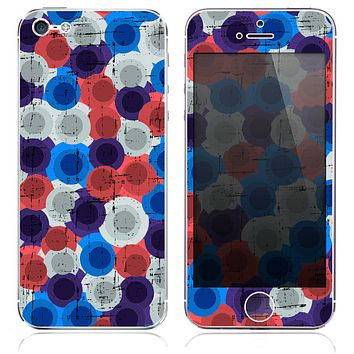 The Inverted Abstract Swirled Circles Skin for the iPhone 3, 4-4s, 5-5s or 5c