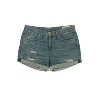 Rag &  Bone Womens Denim Cuffed Casual Shorts
