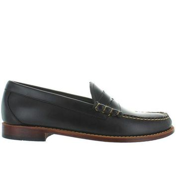 Bass Weejuns Larson   Dark Grey Leather Classic Penny Loafer