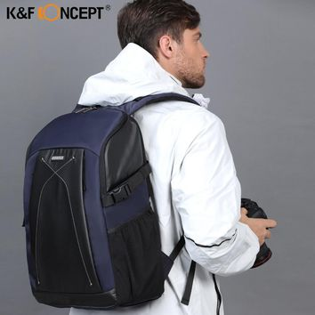 K&F CONCEPT Multi-functional Waterproof DSLR Camera Shoulder Bag Professional Video Photo Backpack With PE Boards For Photograph