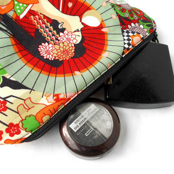 Modern Geisha Makeup Accessory Bag - Harajuku Japan Make Up Accessories Bag Pouch Clutch