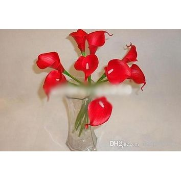 "Callas Lillies 27Pcs 35cm/13.78"" Artificial Flowers Simulation Calla Lily Wedding Crafts"