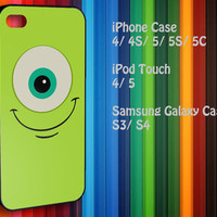 Samsung Galaxy S3/ S4 case, iPhone 4/4S / 5/ 5s/ 5c case, iPod Touch 4 / 5 case : Disney Mike Wazowski Monster Inc