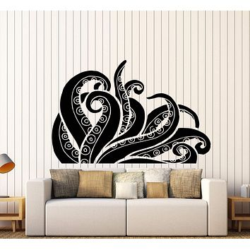 Vinyl Wall Decal Tentacles Octopus Kraken Ocean Monster Stickers Unique Gift (375ig)