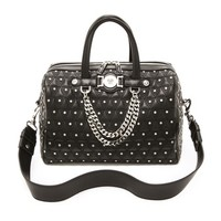 Quilted Stud Chain Medusa Bag