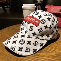 Louis Vuitton X Supreme Fashion Casual Hat Cap