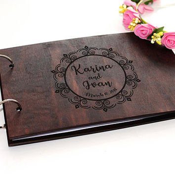 Personalised Wedding Guest Book Alternative Ideas Rustic Wedding Guest Book Wooden Wedding Guest Book Wood Guestbook Custom Guest book
