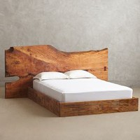 Live Edge Wood Queen Bed by Anthropologie Cocoa Queen Furniture