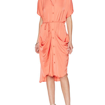 Shelly Draped Shirt Dress