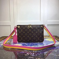 LV Louis Vuitton LORETTE MONOGRAM CANVAS SHOULDER BAG