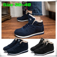 Size 36-48 Autumn Winter Men/Women Warm Snow Boots Casual with Short Plush Ankle Boots Height Increasing Men Shoes  [8833486220]
