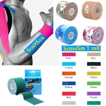 Professional 5cm*5m Elastic Cotton Roll Adhesive Kinesiology Tape Sports FREE SHIPPING!