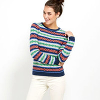 Women's Sweaters: Harbor Fair Isle Crewneck for Women