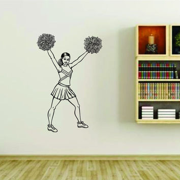 Cheerleader Cheerleaders Cheer Version 107 Vinyl Wall Decal Sticker