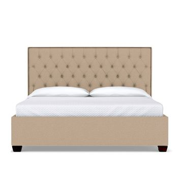 Huntley Drive Upholstered Bed CAL KING in BEIGE - CLEARANCE