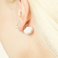 Faux Crystal Ball Dual Studs
