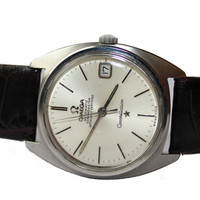 Vintage 1960s Men's Omega Swiss Automatic Date Chronometer Constellation Officially Certified Cal 561