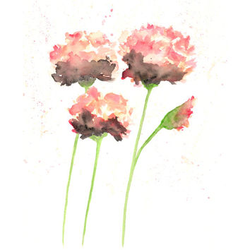 Watercolor Painting Flower Flowers Abstra