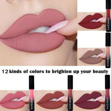 12 Colors Matte Red Lip Liquid Lipstick Waterproof Moisturizer Makeup Stick Nude Tint Lip Gloss Cosmetics Lip Beauty Lip Colors